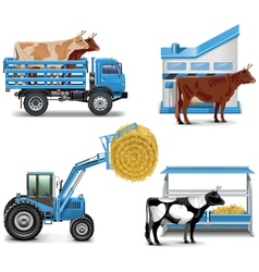 Agricultural icons set 3 vector