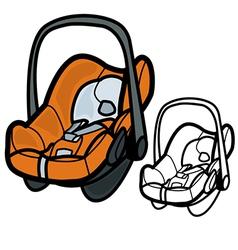 Baby car seat vector