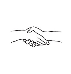 Business people shaking hands colaboration vector