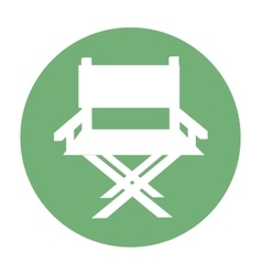 Chair director production film icon vector