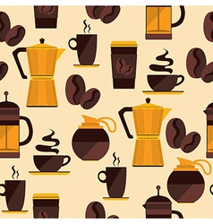 Coffee seamless pattern for menu coffee shop vector