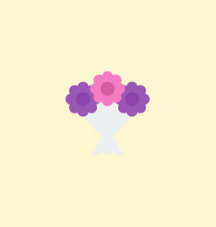 flat icon bouquet element of vector image