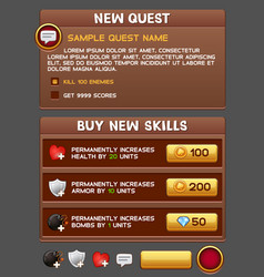 game gui pack vector image vector image