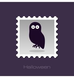 Halloween owl stamp vector