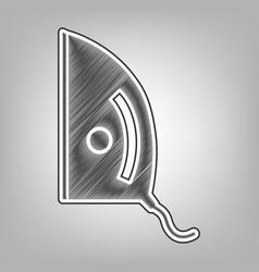 Iron sign pencil sketch imitation dark vector