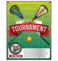 Lacrosse tournament flyer vector