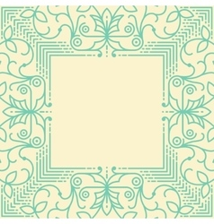 Linear simple frame with thin lines vector