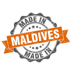 Made in maldives round seal vector