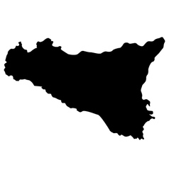 Map sicily vector