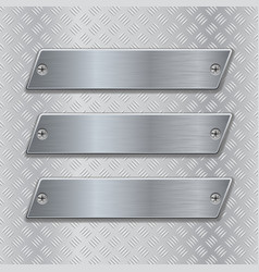 Metal brushed plates on non-slip metallic surface vector