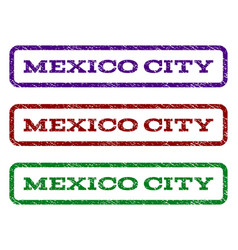 mexico city watermark stamp vector image