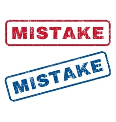 Mistake rubber stamps vector