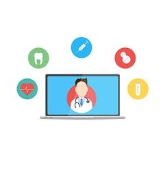 Online Doctor concept vector image vector image