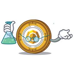 Professor komodo coin character cartoon vector