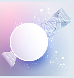 Science template wallpaper or banner with a 3d vector