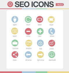 Seo google like icons set volume 1 set 2 vector
