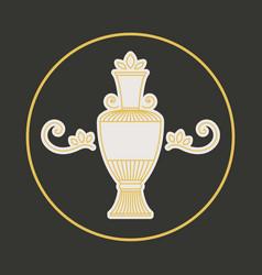 Vintage jug symbol vector