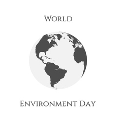 World Environment Day Earth Background Template vector image vector image
