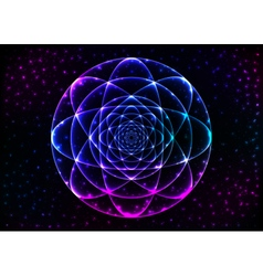 Sacred geometry symbol mandala mystery element vector