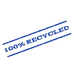 100 percent recycled watermark stamp vector