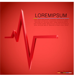 Cardiogram wave background medicine concept vector