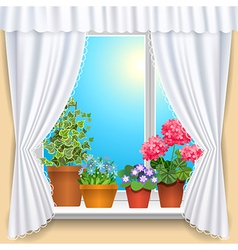Flowers window vs vector