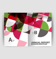 abstract circle design business annual report vector image