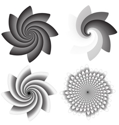 Flower swirls vector