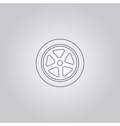 Wheel icon vector