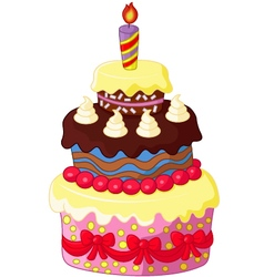 Cartoon birthday cake vector