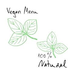 Natural products sketch vector