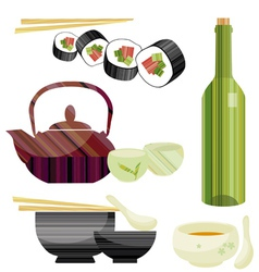 tableware set vector image