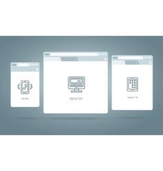 Browser Windows Responsive Web vector image