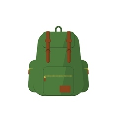 Flat backpack vector