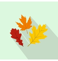 Autumn leaves icon flat style vector