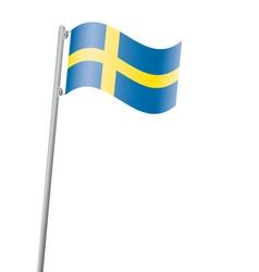 sweden flag3 vector image