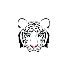 a white tiger head vector image vector image