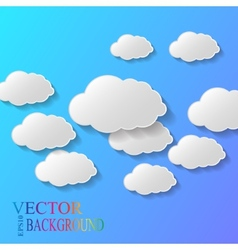 Abstract background composed of white paper vector