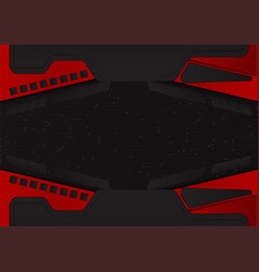 Abstract black and red color background with copy vector