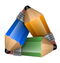Abstract element consisting of a triangular shape vector image vector image
