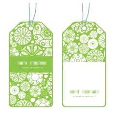 Abstract green and white circles vertical stripe vector
