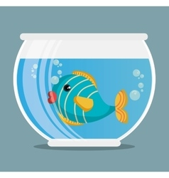 aquarium pet shop icon vector image vector image
