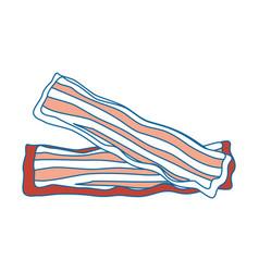 Bacon stripes design vector