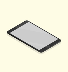 Black tablet isometric vector