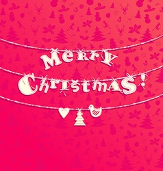 Christmas applique background garland of letters vector