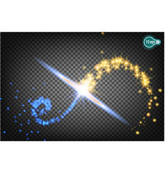 christmas star isolated on a transparent vector image