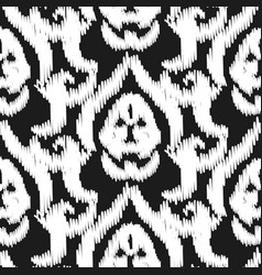 Damask ikat seamless wallpaper pattern vector
