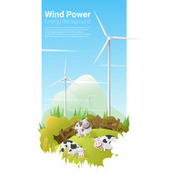 Energy concept background with wind turbine 12 vector