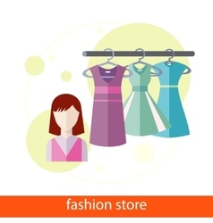 Fashion store vector