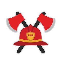 Firefighter hat vector